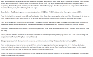 STUDIO ANIMASI MALAYSIA, CHINA HASILKAN CHUCK CHICKEN – THE MOVIE - Article 2